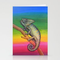 Chameleon (2) Stationery Cards
