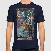 THE WOLF HOWLED AT THE STAR FILLED NIGHT Mens Fitted Tee Navy SMALL