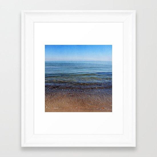 sea square XII Framed Art Print
