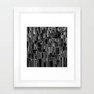 Tall City B&W Inverted /… Framed Art Print