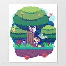Tiny Worlds - Viridian Forest Canvas Print