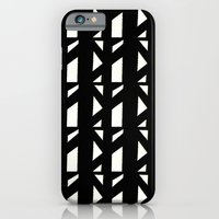 iPhone & iPod Case featuring Marsman Black & White Pattern by Stoflab