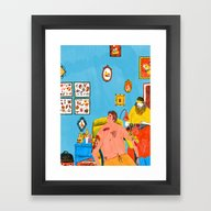 Framed Art Print featuring Tattoo by Mouni Feddag
