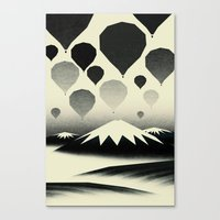 Morning wind balloons Canvas Print