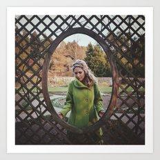 The Girl in the Green Peacoat Art Print