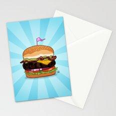 Bacon Cheeseburger Tummy Stationery Cards