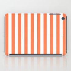 Vertical Stripes (Coral/White) iPad Case