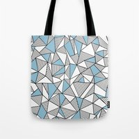 Abstraction Lines Sky Bl… Tote Bag