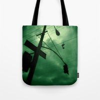 Shoes And Wires Tote Bag