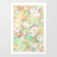Vintage Flowers XXXIX - for iphone Art Print