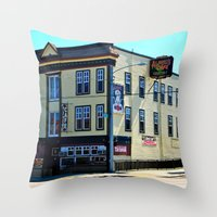 Alfred's Cafe Throw Pillow