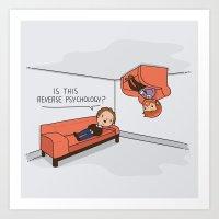 Psicología Inversa Art Print