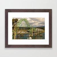 Siuslaw River Bridge, Florence, Oregon Framed Art Print