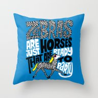 Party Horses Throw Pillow