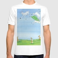 Sheep Shenanigan's White Mens Fitted Tee SMALL