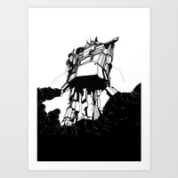 Unobtrusive Location Art Print
