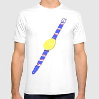 Watch_1 Mens Fitted Tee White SMALL