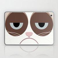 Grumpy Chubby Cat Laptop & iPad Skin