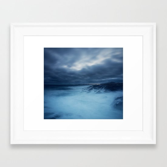 Heaving Seas Framed Art Print