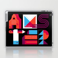 Postcards from Amsterdam / Typography Laptop & iPad Skin
