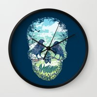 Nature's Skull Wall Clock