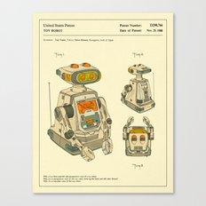 Robot Patent (1988) Canvas Print