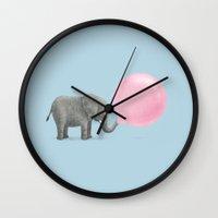 Jumbo Bubble Gum  Wall Clock