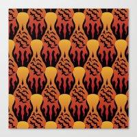 SCORCH Pattern [BLACK] Canvas Print
