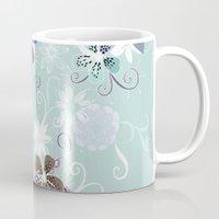Summer blossom, blue and purple Mug