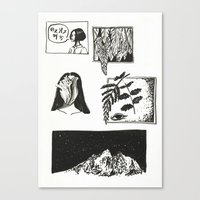 Comic Strip Canvas Print