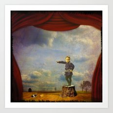 The boy and his mouse Art Print