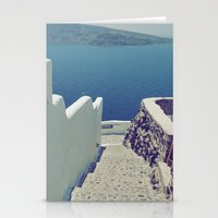 Santorini Stairs III Stationery Cards