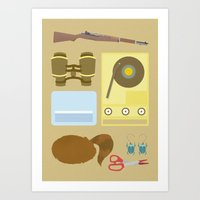 moonrise kingdom Art Prints featuring Moonrise Kingdom by winnie