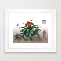 Pokemon-Venusaur Framed Art Print