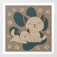 Mama, Mew...Mew... Art Print