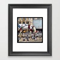 We Get Along Like Pigeon… Framed Art Print