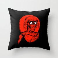 Longing for Brains Throw Pillow