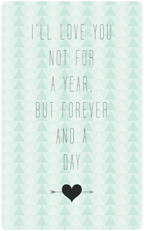 Forever & A Day Art Print