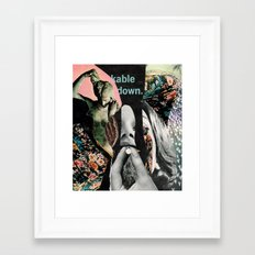 kable down  Framed Art Print