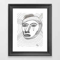 Crying Face Framed Art Print