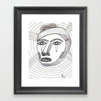 Crying Face Framed Art Print