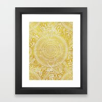 Medallion Pattern In Mus… Framed Art Print