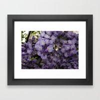 Purple Pretty Framed Art Print