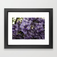Purple Pretty Framed Art Print
