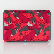 Purrrfect Pattern (Red) iPad Case
