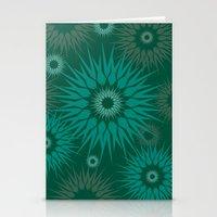 Dark Spiky Burst Stationery Cards