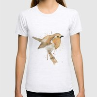 Ready Robin Womens Fitted Tee Ash Grey SMALL