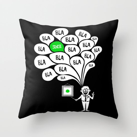 The Expert Throw Pillow
