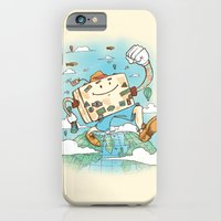 iPhone Cases featuring Mr Globetrotter by Nick Volkert