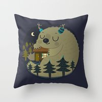 Home is where the monsters are Throw Pillow